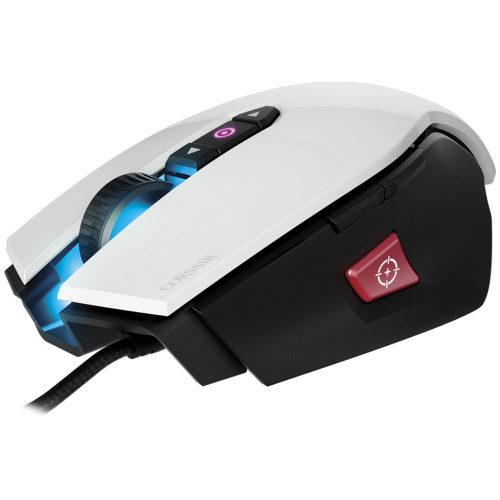 MOUSE CORSAIR M65 PRO 3 ZONAS PRO RGB FPS GAMING WHITE OMRON