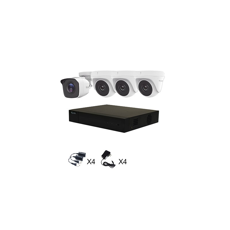 Kit 4 Cámaras TurboHD 1080p HiLook by Hikvision