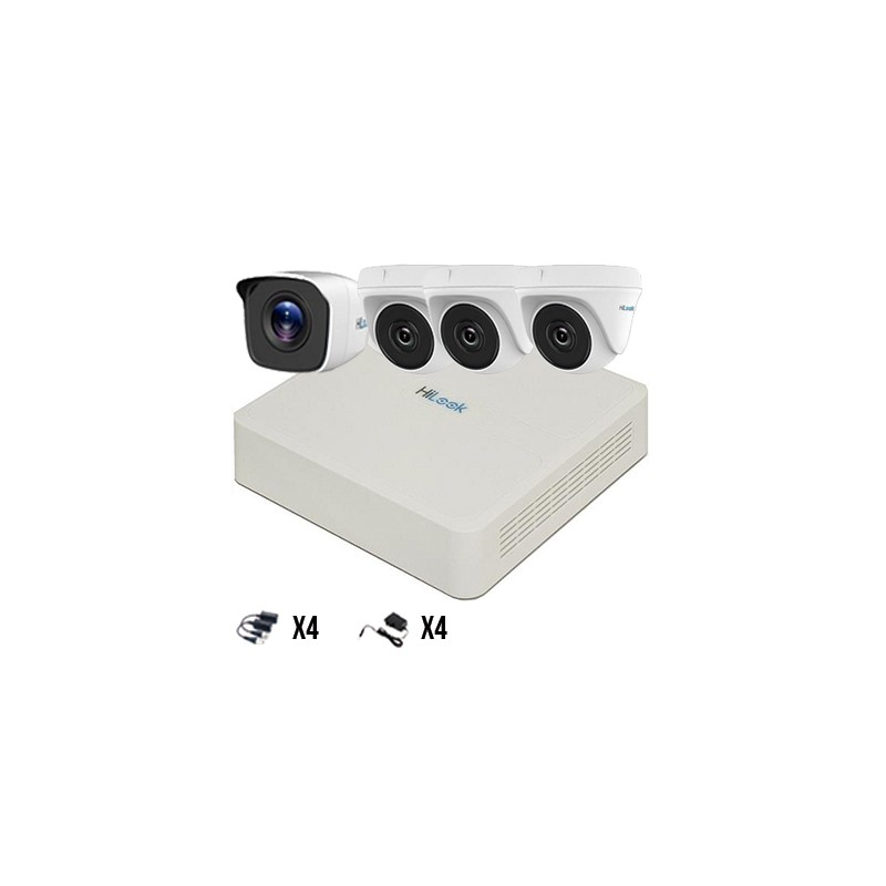 Kit 4 Cámaras TurboHD 720p HiLook by Hikvision