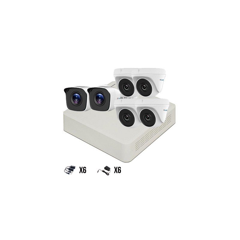 Kit 6 Cámaras TurboHD 720p HiLook by Hikvision